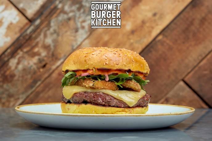 gourmet burger kitchen burger