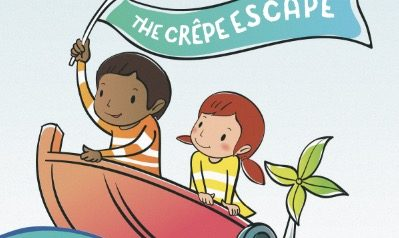 the crepe escape kids in a boat